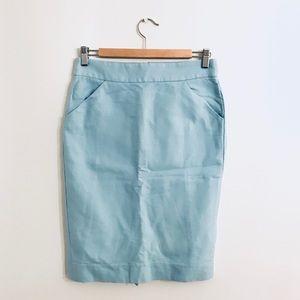 J. Crew Baby Blue Pencil Skirt